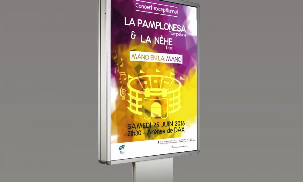 Affiche du concert de l'harmonie la Néhe – Dax